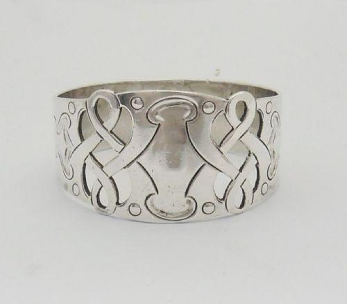 arts crafts silver napkin ring sheffield 1904