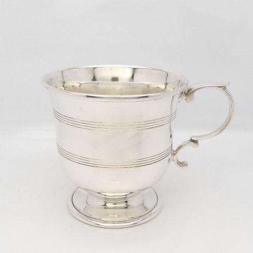 silver christening cup hallmarked london 1959 william comyns sons ltd