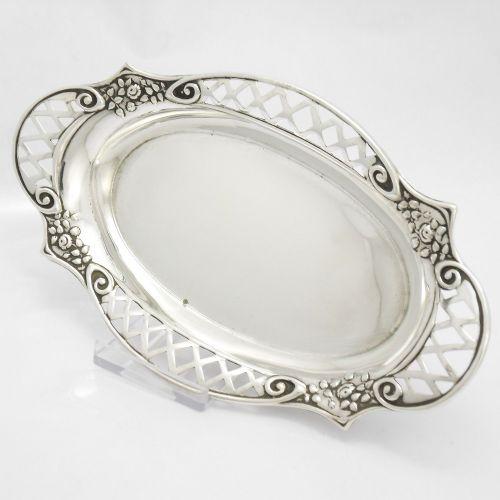 pretty silver bon bon dish birmingham 1913