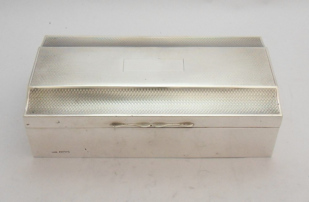 art deco silver cigarette box sheffield 1929