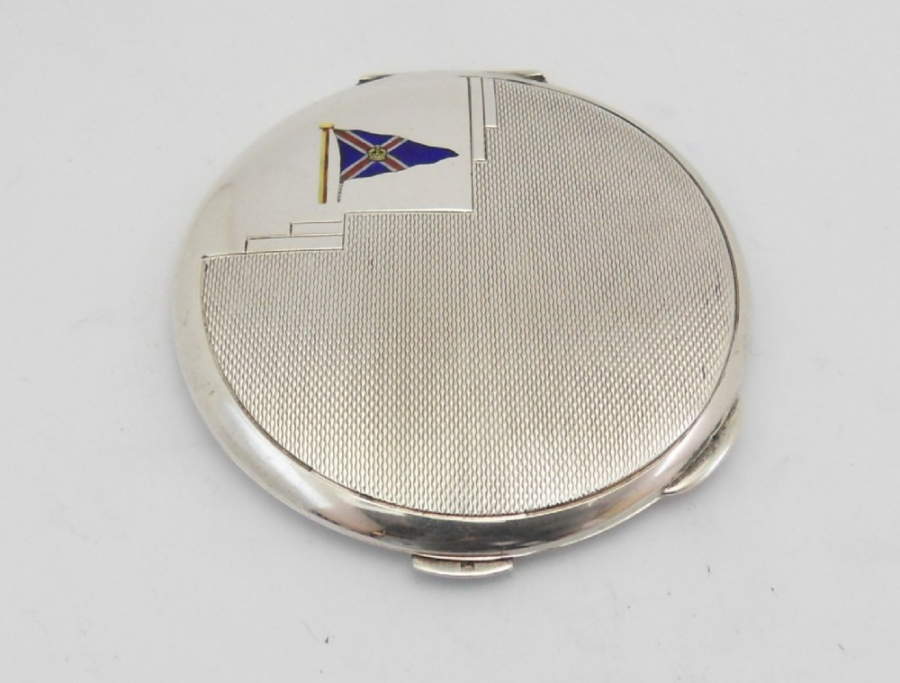 art deco silver compact royal motor yacht club