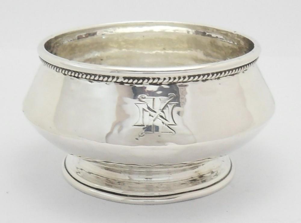stunning arts crafts silver bowl birmingham 1919