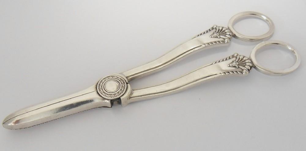 fine vintage silver grape scissors sheffield 1958