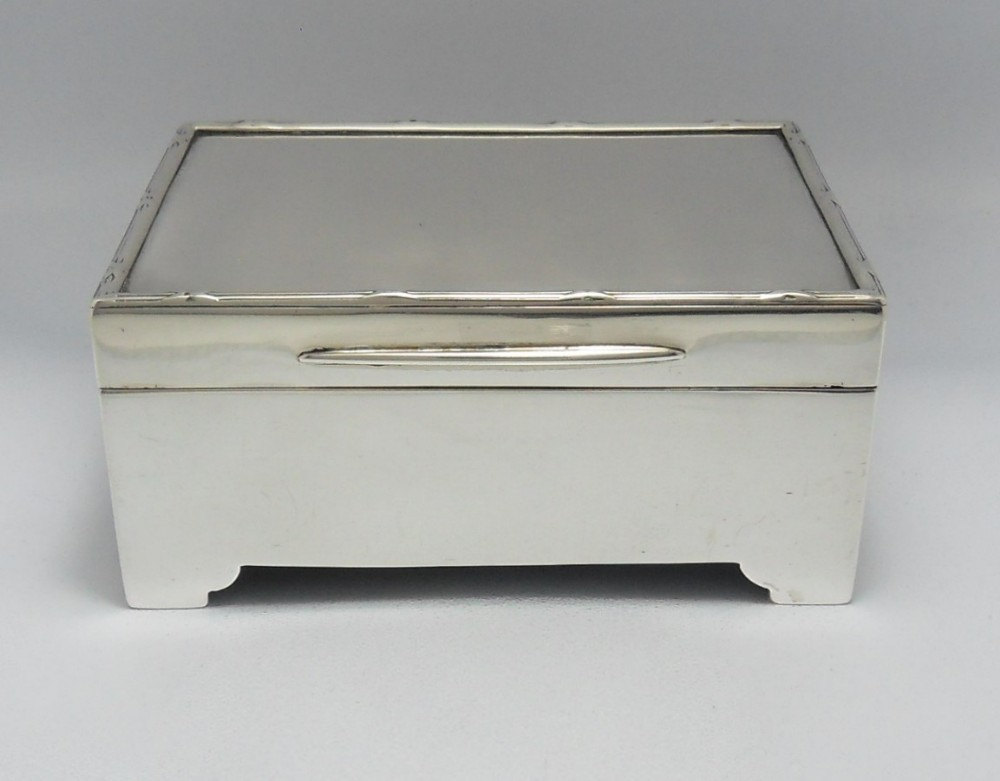 silver edwardian cigarettematch striker box goldsmiths silversmiths