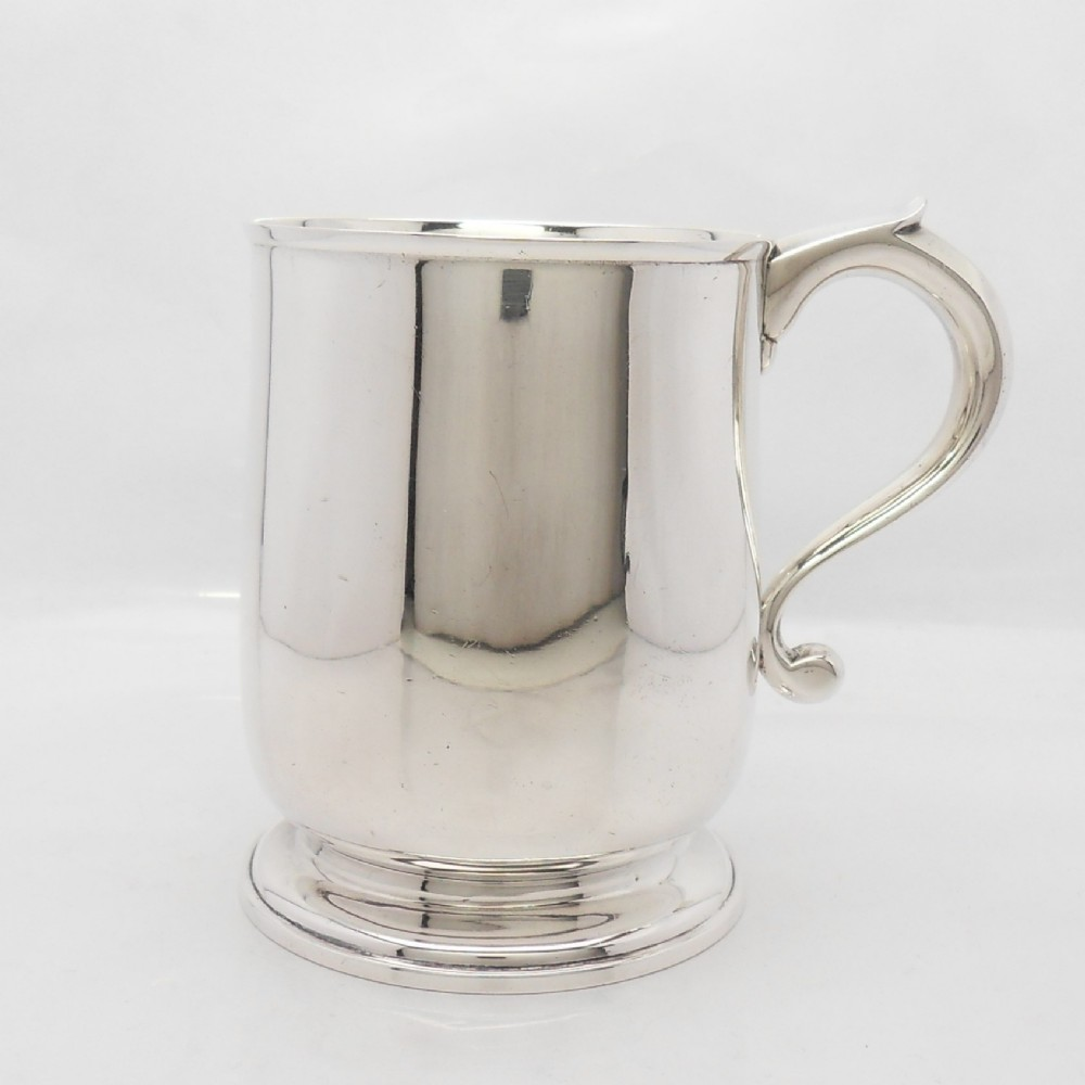 superb george v silver tankard by goldsmiths silversmiths london 1925