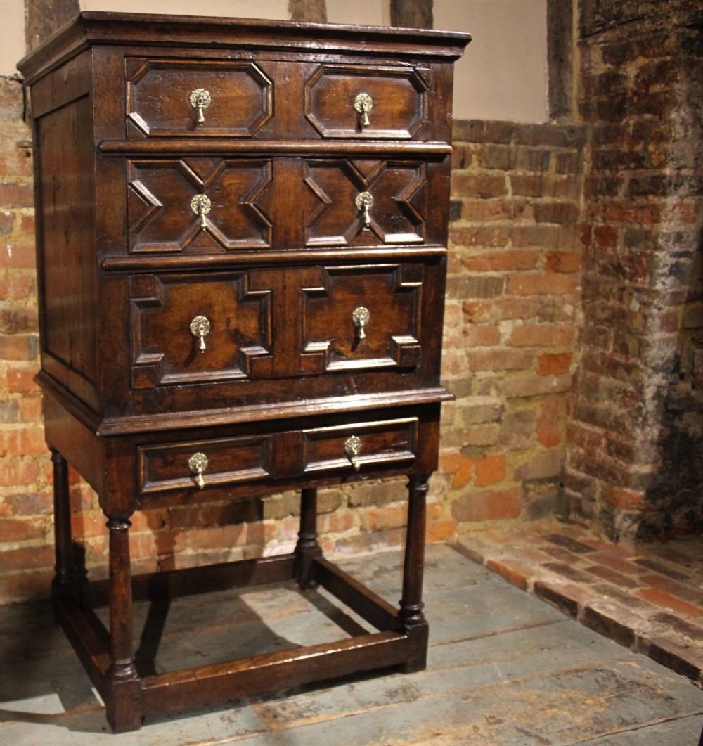 very small 18th century chest on chest