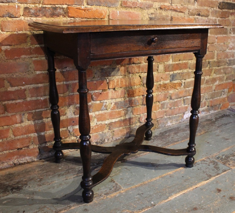small late 17th century oak side table