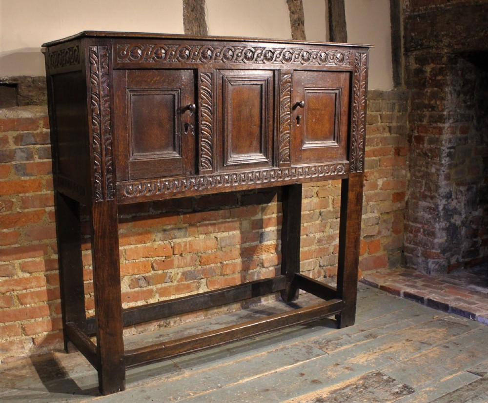 small 17th century oak cupboard