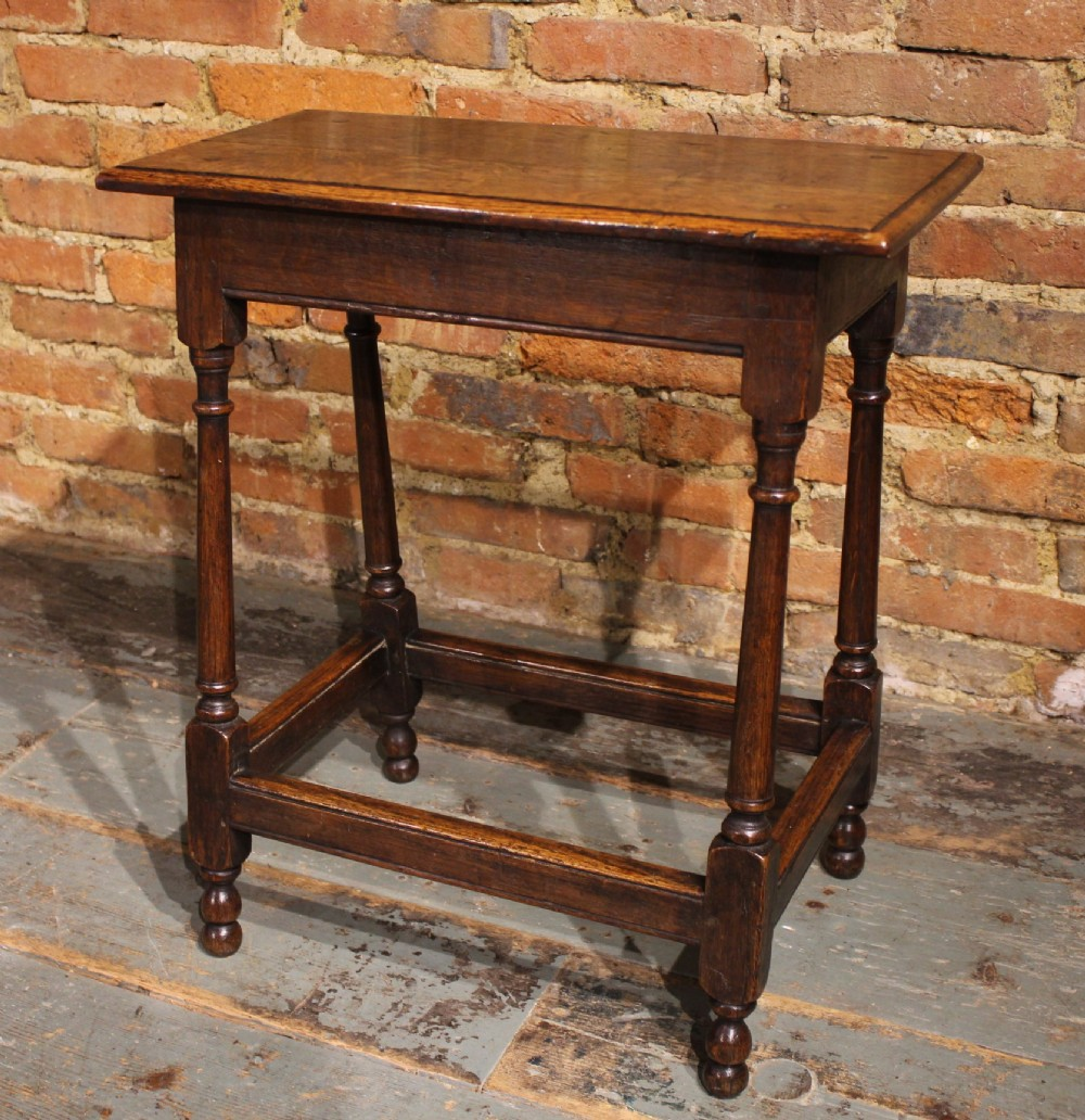 very small 18th century oak table