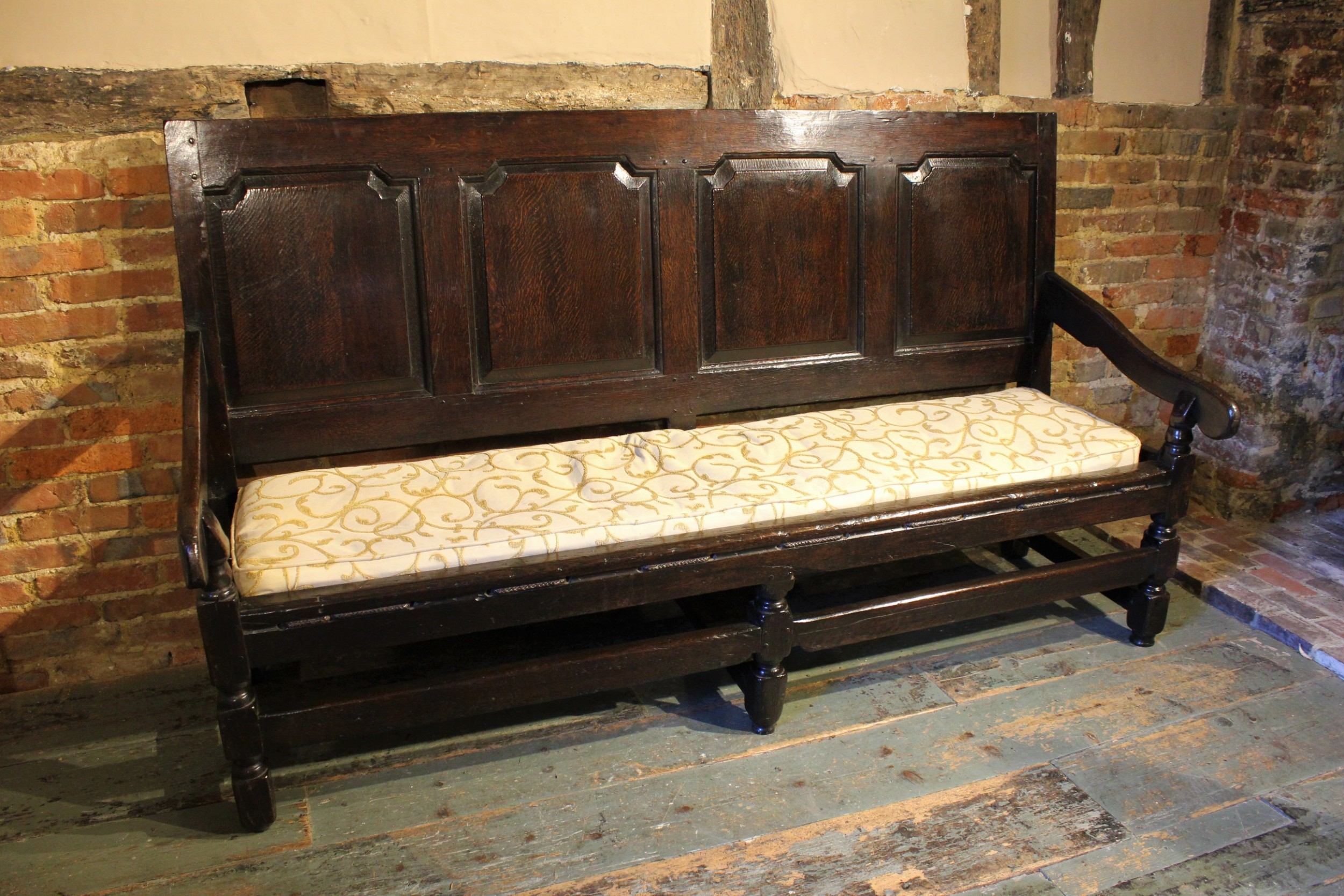early 18th century oak settle