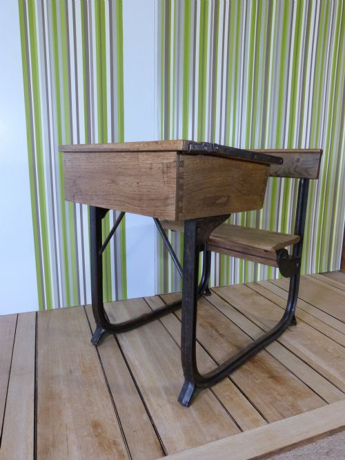 vintage oak school desk - Vintage Oak School Desk 196547 Www.woodys-antiques.com