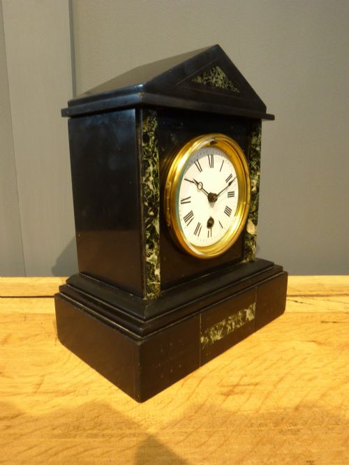 French Slate Mantel Clock 240466 Sellingantiques Co Uk