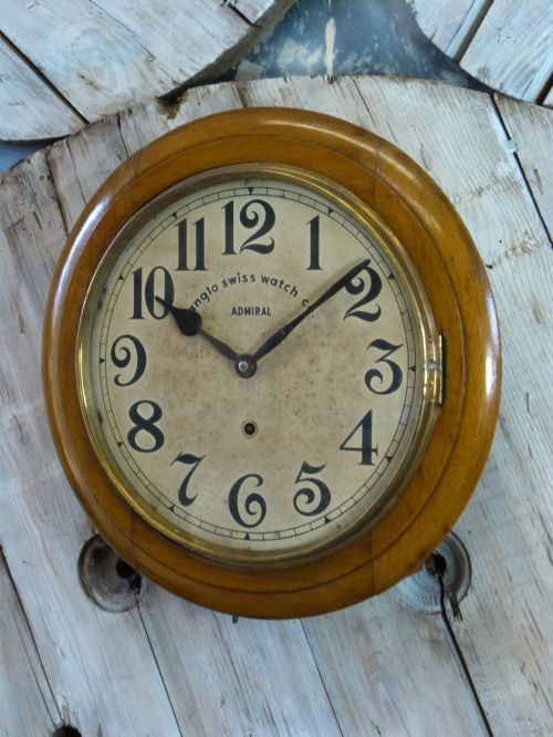Anglo swiss railway school wall clock 433117 - Swiss railway wall clock ...