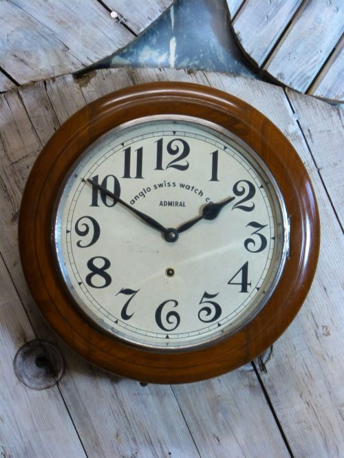 Anglo swiss railway school wall clock 441918 - Swiss railway wall clock ...