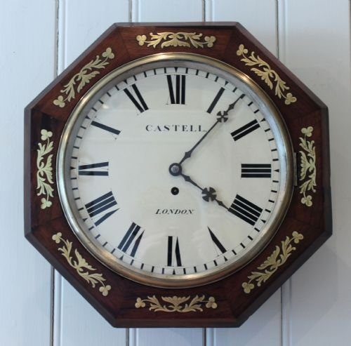 regency rosewood wall clock
