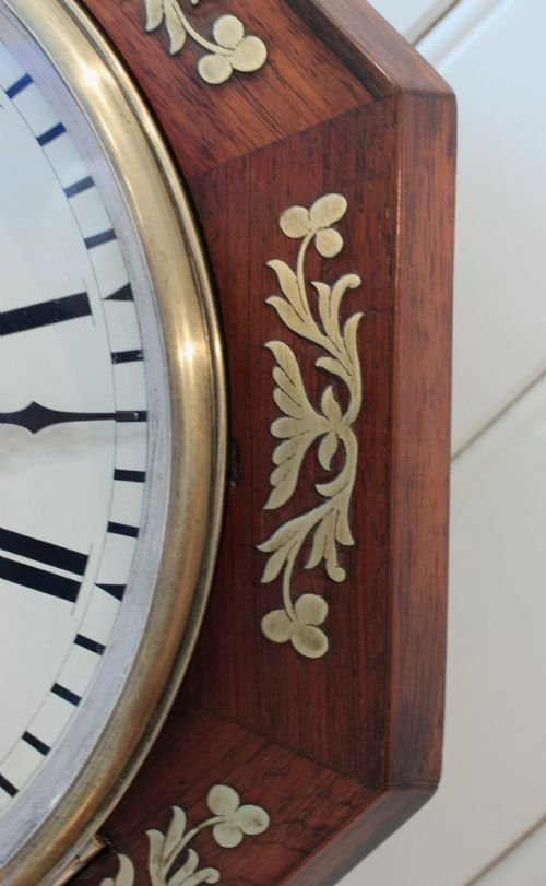regency rosewood wall clock - photo angle #2