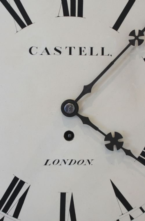 regency rosewood wall clock - photo angle #3