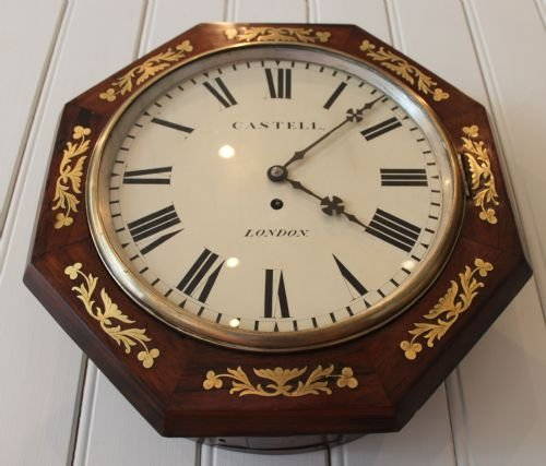 regency rosewood wall clock - photo angle #4