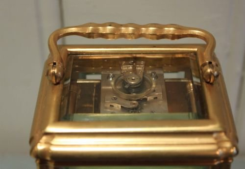 striking gorge case carriage clock - photo angle #3