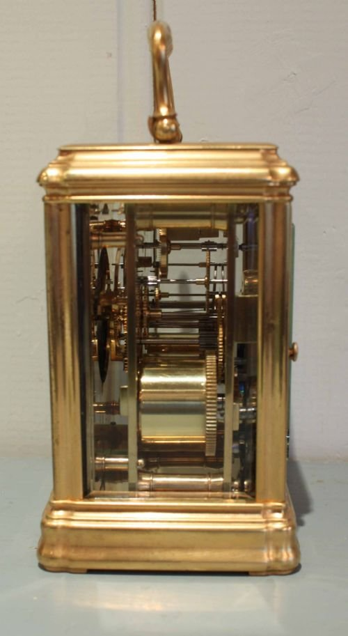 striking gorge case carriage clock - photo angle #4