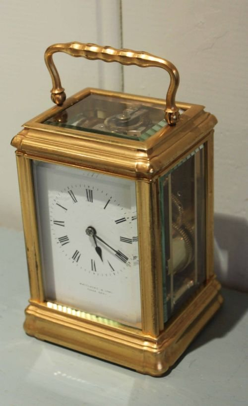 striking gorge case carriage clock - photo angle #2