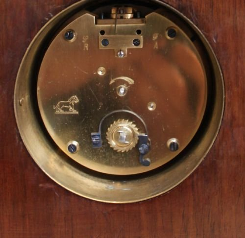 edwardian mahogany and inlaid mantel clock - photo angle #4