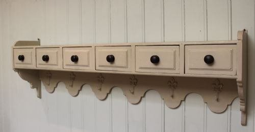 french painted wall shelves - photo angle #4