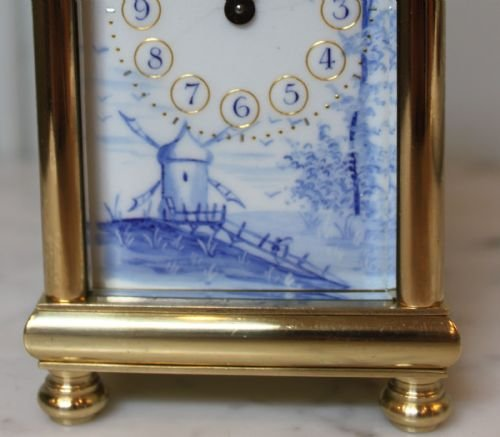 unusual enamel panel carriage clock - photo angle #4
