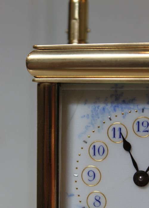 unusual enamel panel carriage clock - photo angle #5