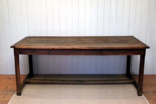 French Solid Oak Farmhouse Dining Table