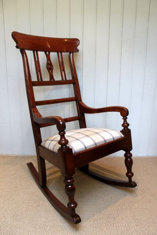substantial fruitwood rocking chair - photo angle #4