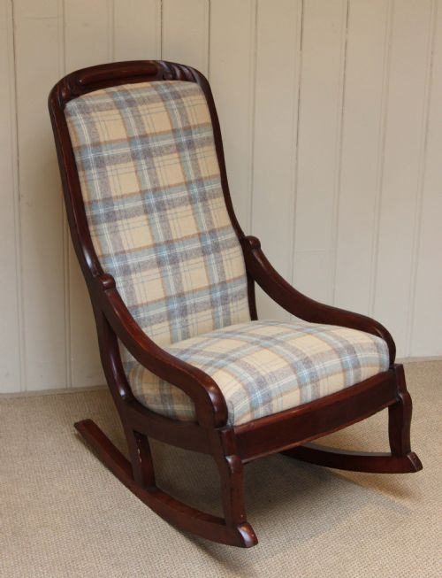 late victorian upholstered rocking chair 244300. Black Bedroom Furniture Sets. Home Design Ideas