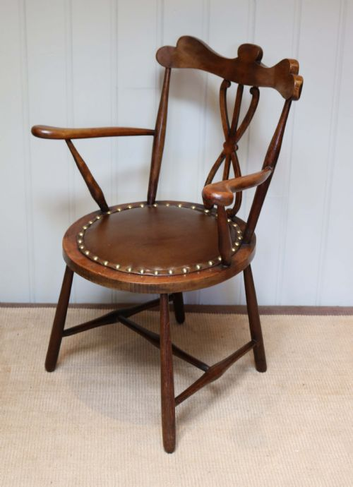 Small Arts And Crafts Beech Wood Chair 565528 Sellingantiquescouk