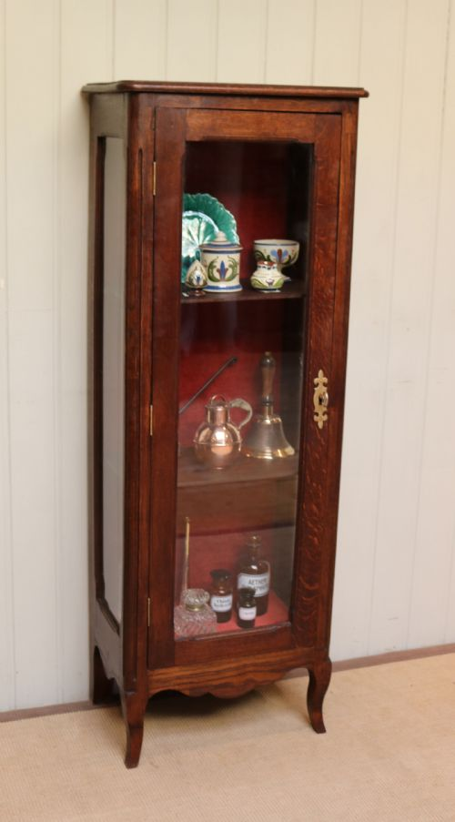 Cabinets Antiques Well Presented Glass China Cabinet Dated 1870