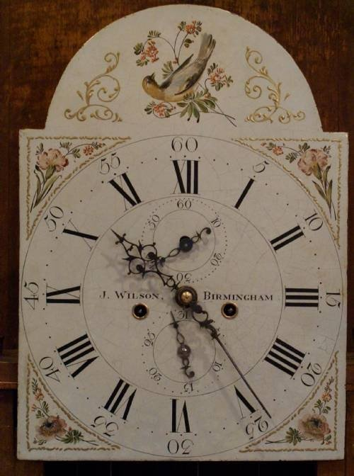 late 18th century solid oak cased longcase clock c 1800 - photo angle #4