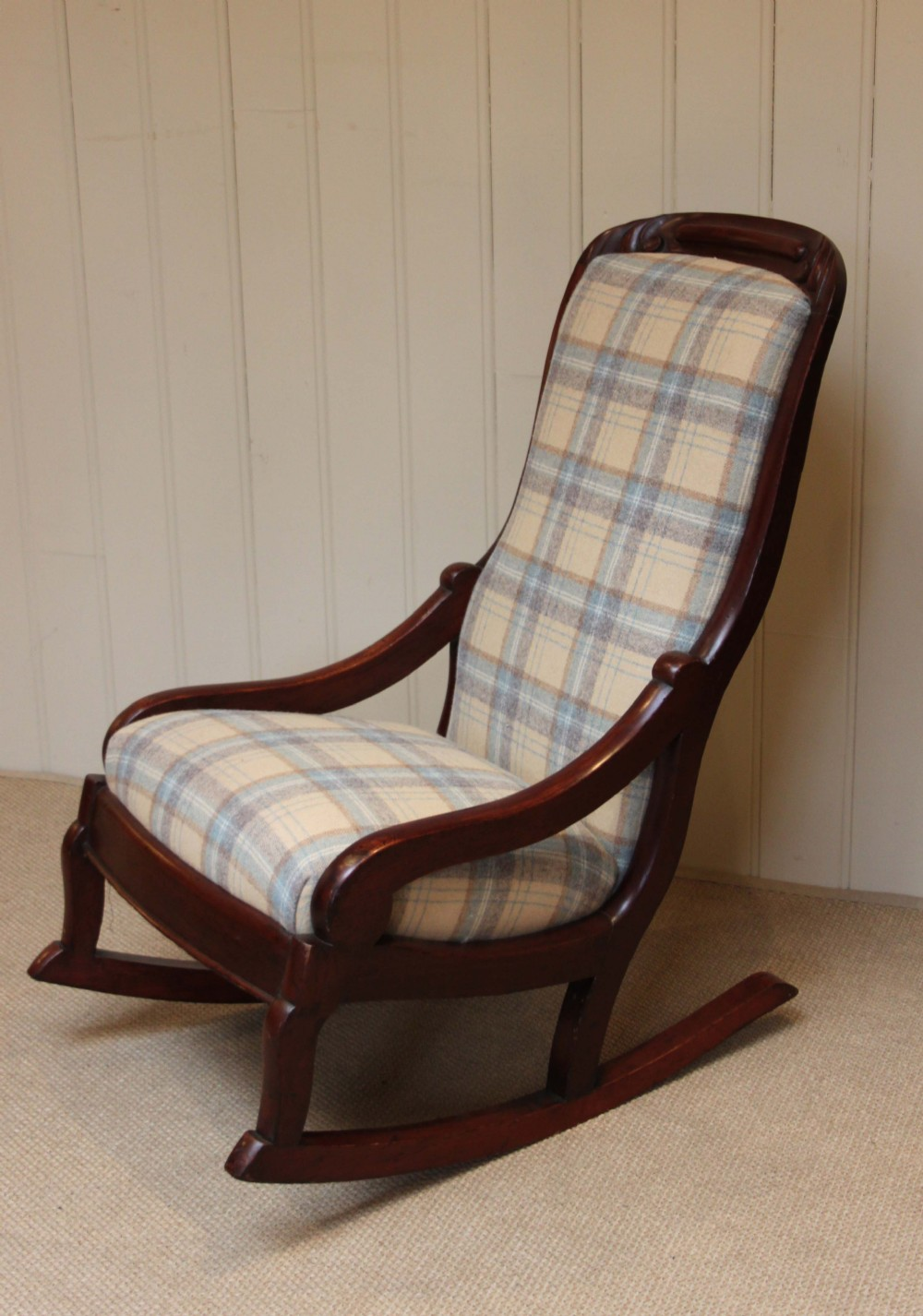late victorian upholstered rocking chair - Late Victorian Upholstered Rocking Chair 244300 Sellingantiques