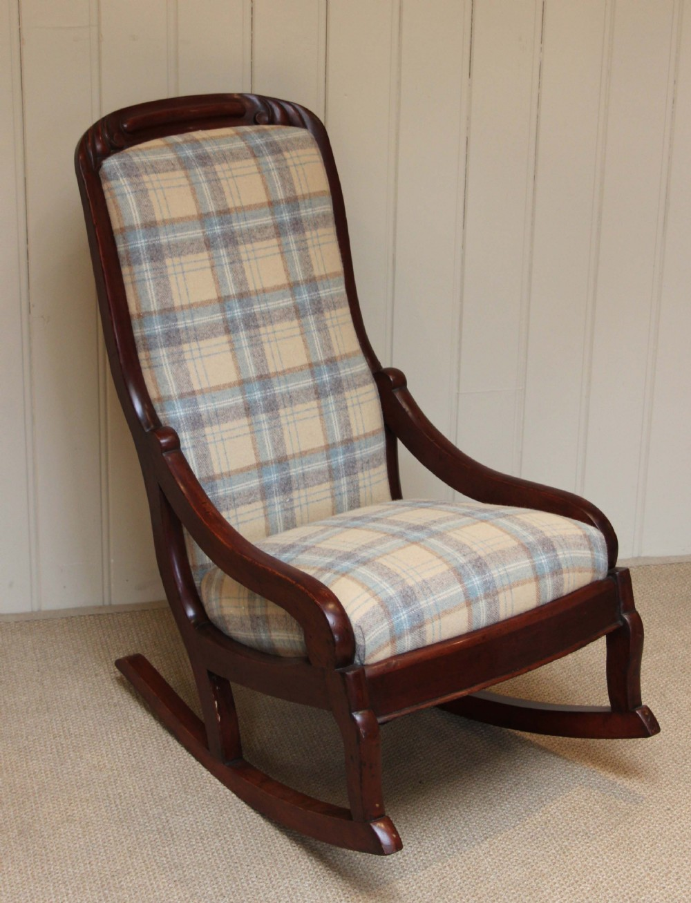 antique upholstered rocking chair www