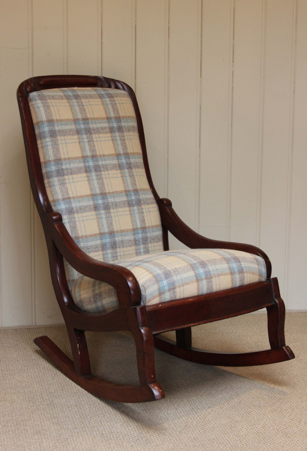 Late Victorian Upholstered Rocking Chair 244300