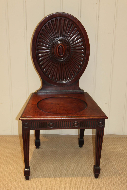 - Late Georgian Mahogany Hall Chair 268062 Sellingantiques.co.uk
