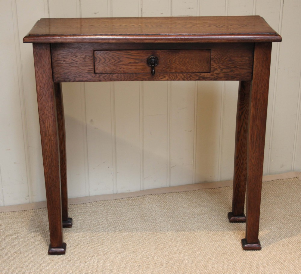 Slim oak arts and crafts style hall table 295419 for Arts and crafts style table