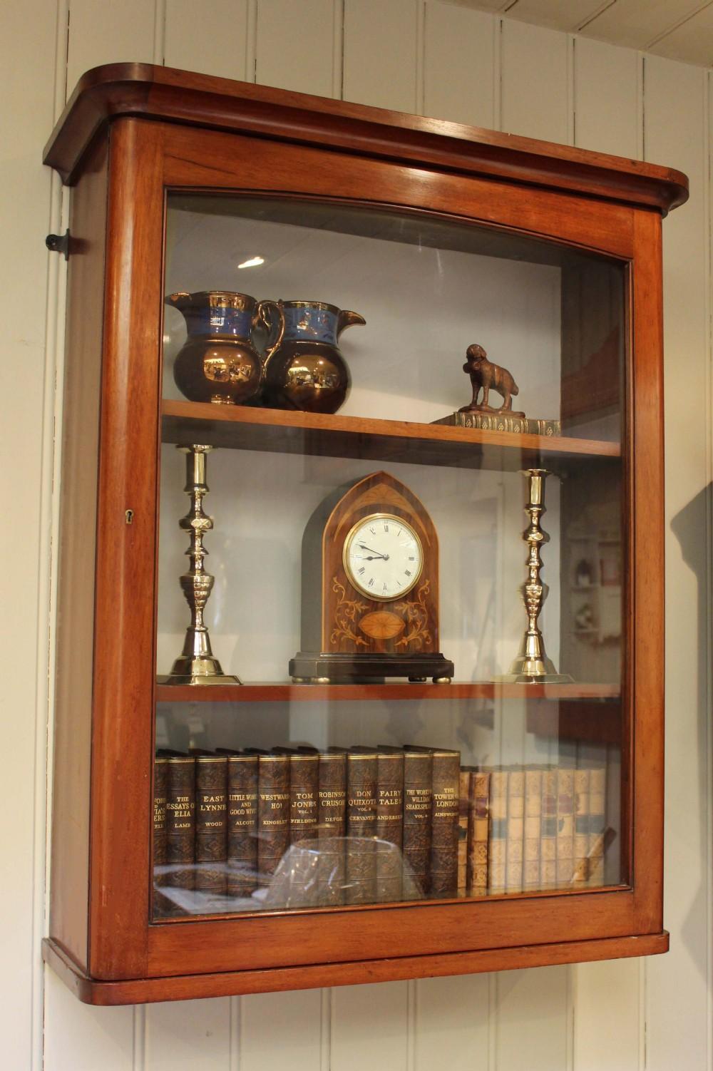 Victorian Mahogany Wall Display Cabinet - Antique Display Cabinets Uk Creativeadvertisingblog.com