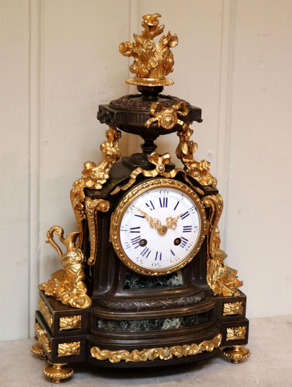 french louis xvi style parcelgilt bronze mantel clock