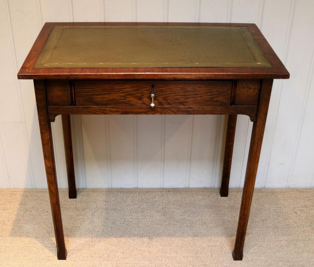 small proportioned edwardian oak writing desk