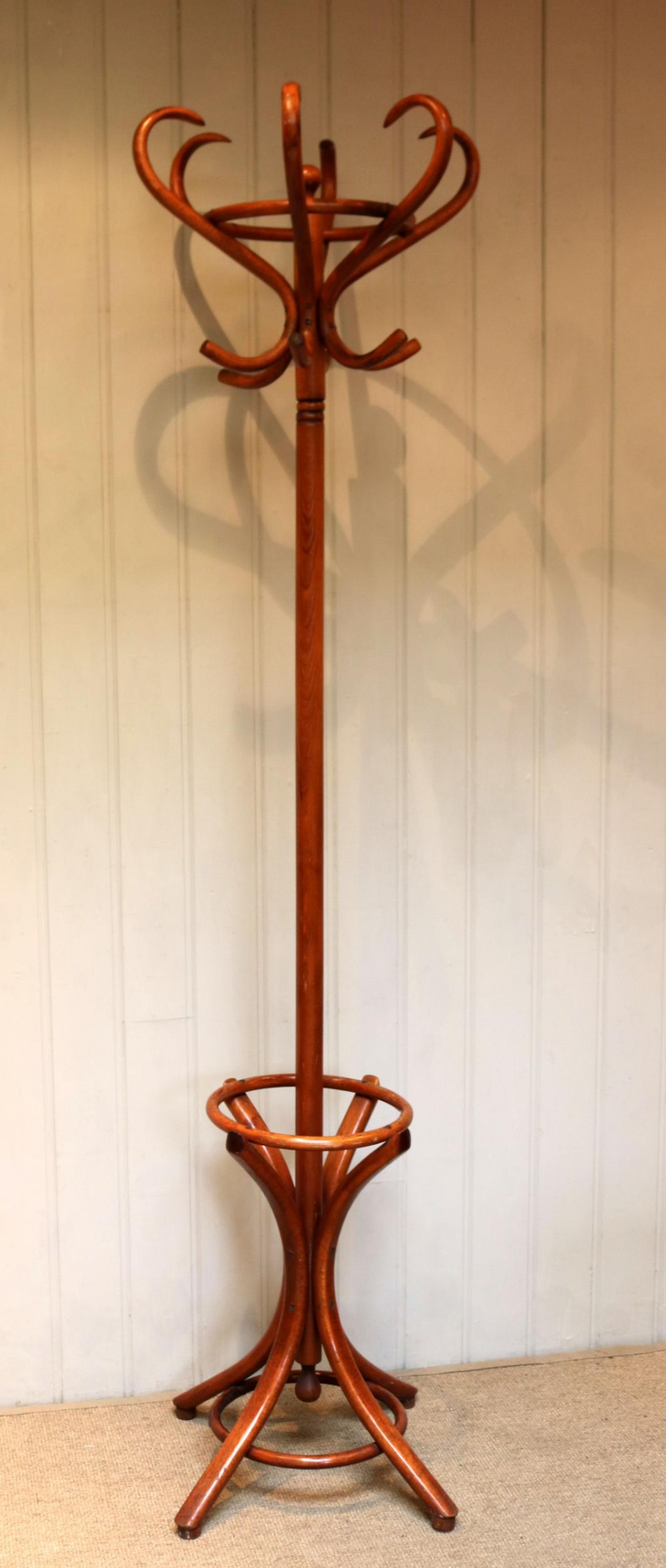 beech bentwood coat and hat stand