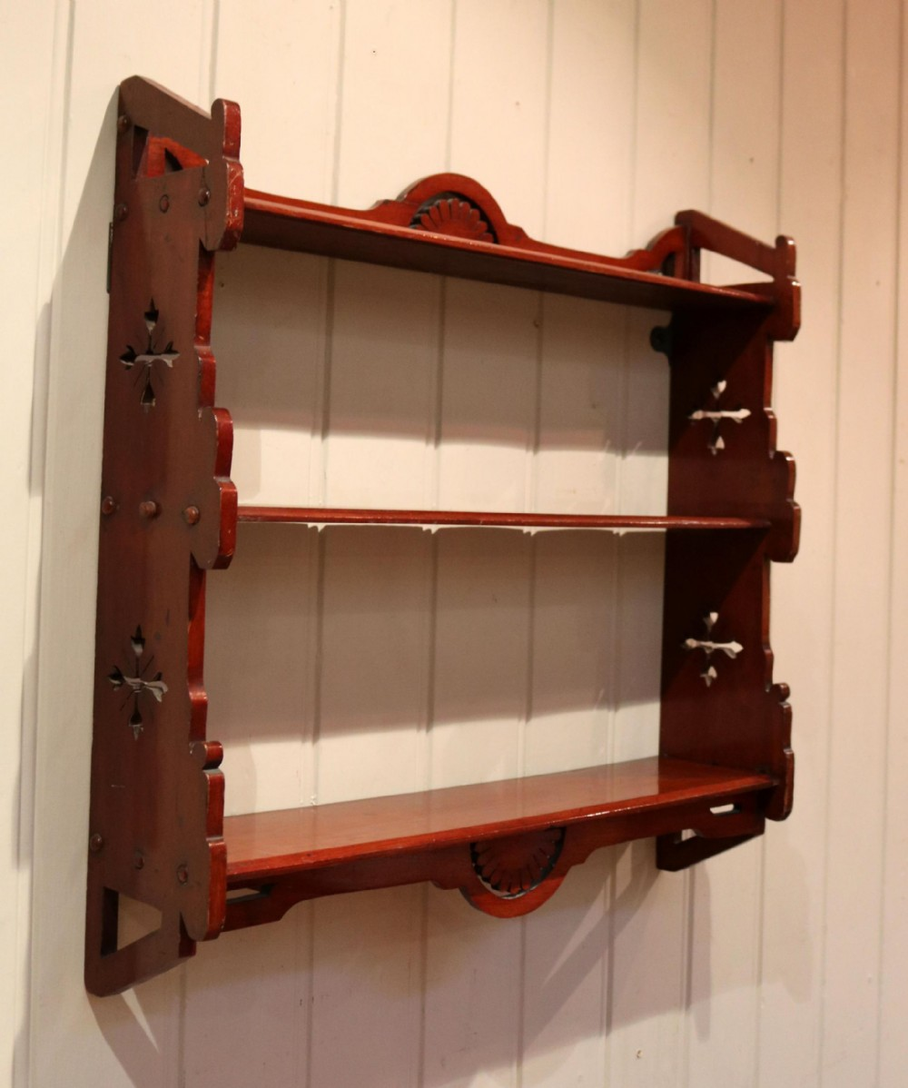 walnut wall shelves