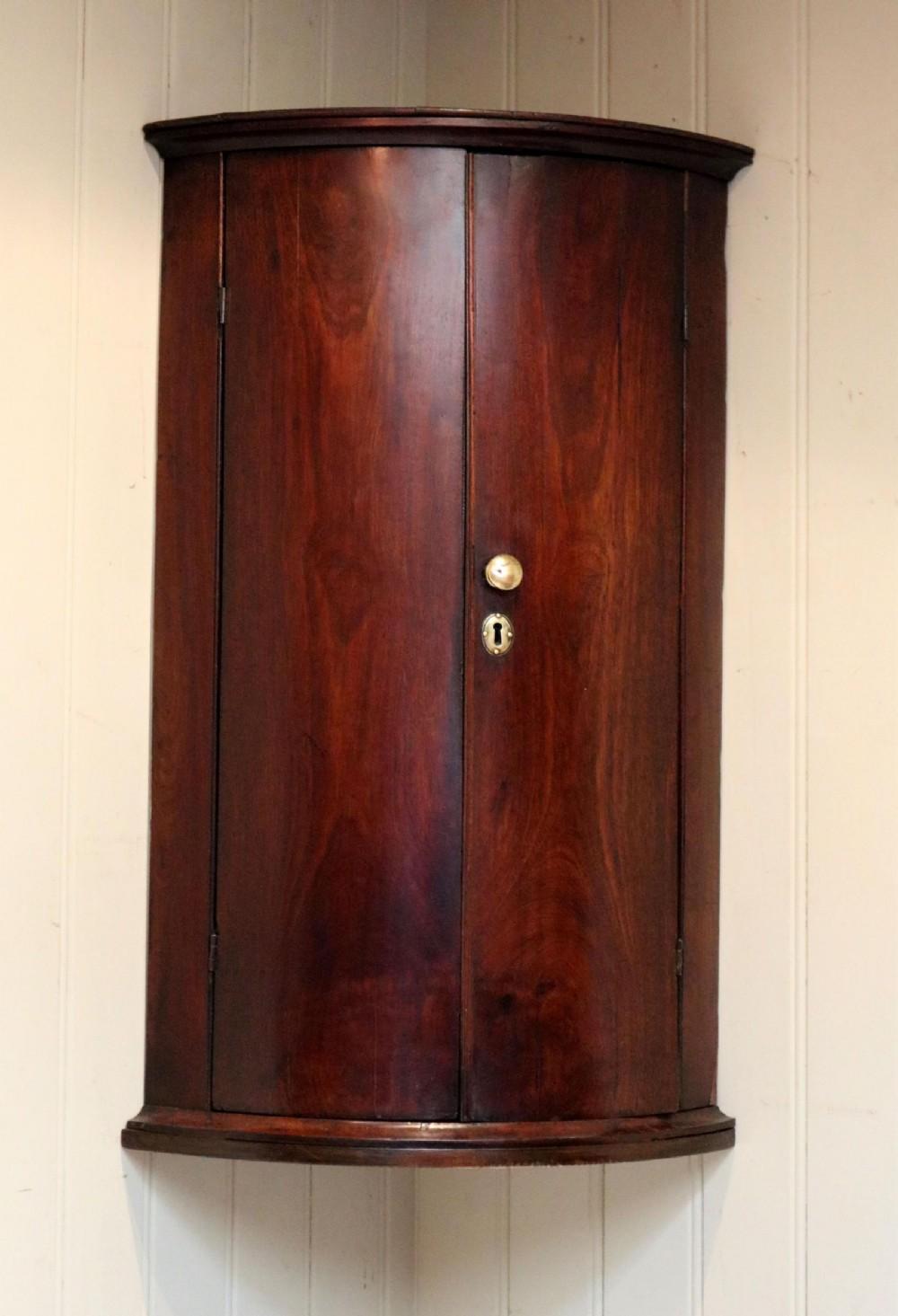 georgian mahogany corner wall cabinet