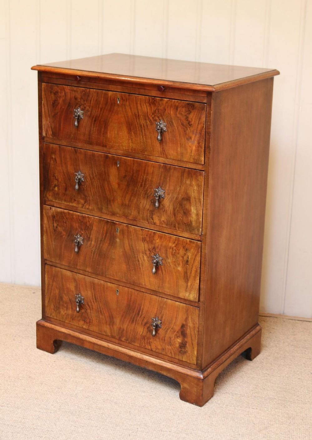 edwardian walnut chest of drawers
