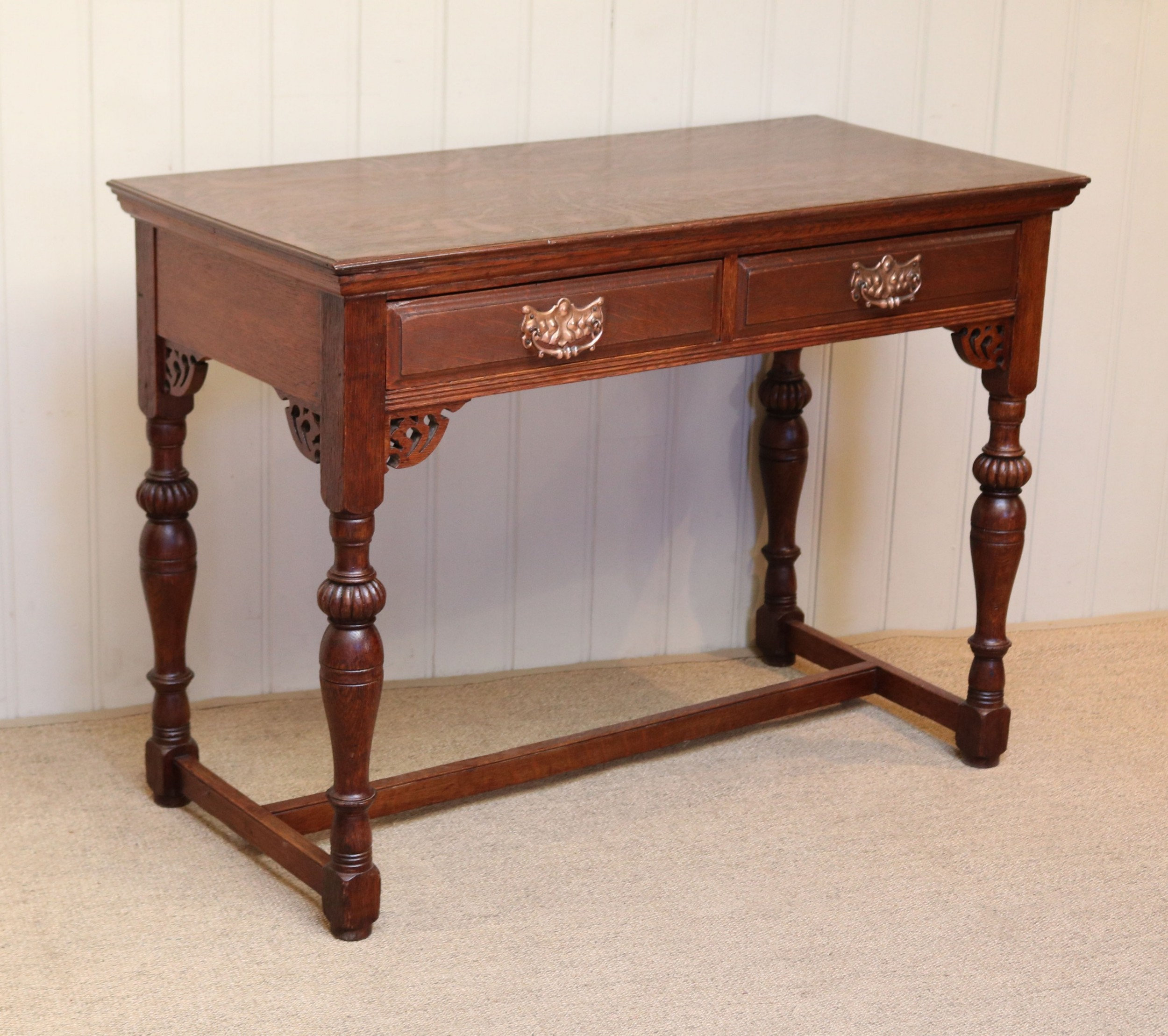 french oak arts and crafts side table