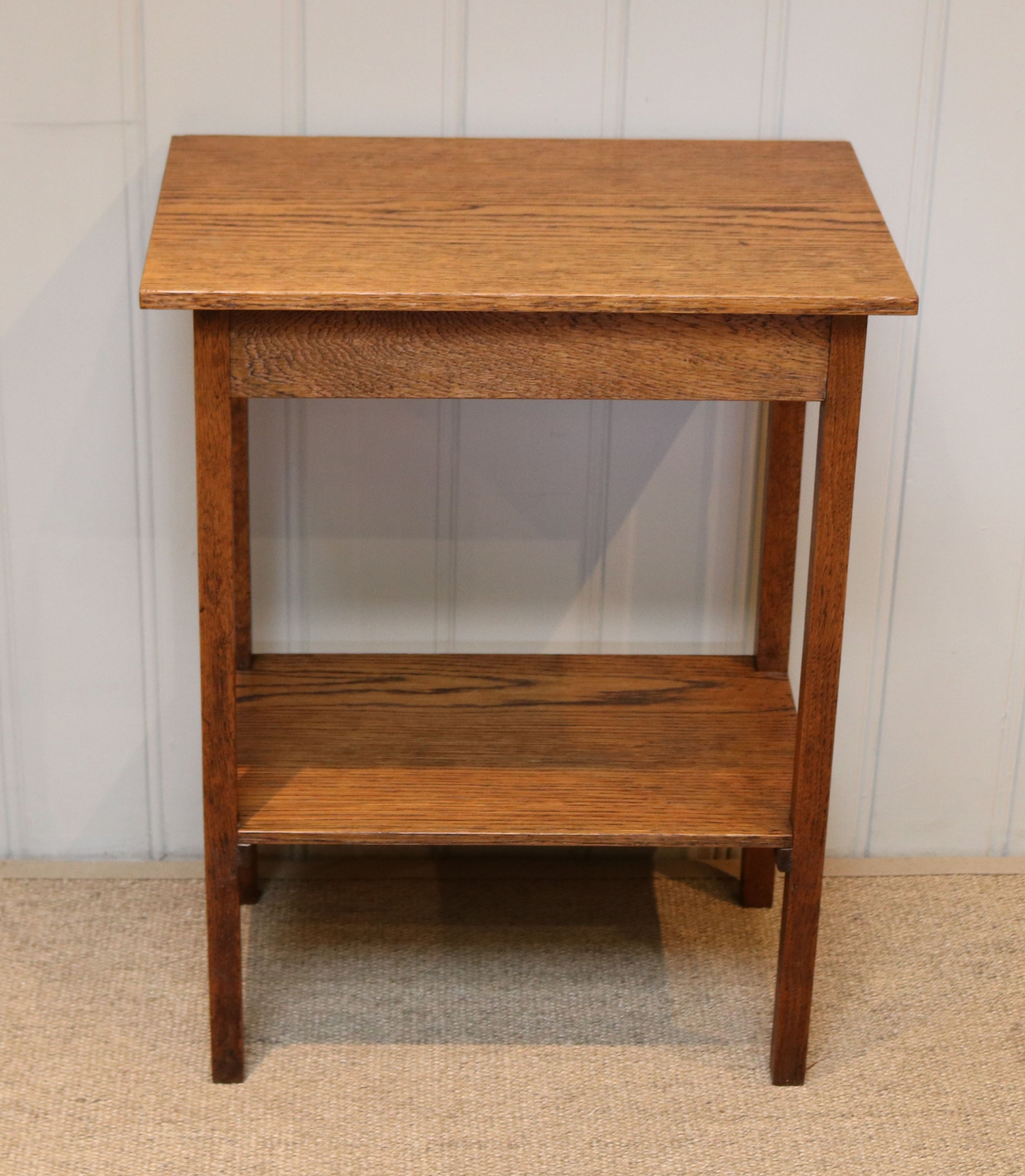 small oak two tier table