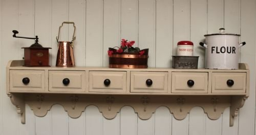 french painted wall shelves